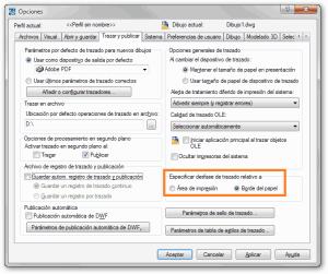 Opciones Trazar y publicar AutoCAD tutorial